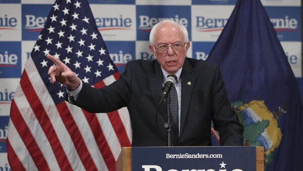 Democratic presidential candidate, Sen. Bernie Sanders, I-Vt., speaks to reporters about coronavirus Thursday March 12, 2020, in Burlington, Vt. - Sputnik International