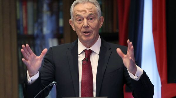 Former British prime minister Tony Blair gives a speech on the future of the Labour Party and progressive politics at the Hallam Conference Centre in central London, Wednesday Dec. 18, 2019. - Sputnik International