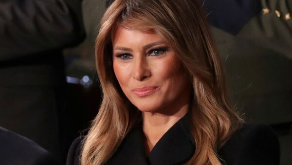 FILE PHOTO: First lady Melania Trump listens to U.S. President Donald Trump's State of the Union address to a joint session of the U.S. Congress in the House Chamber of the U.S. Capitol in Washington, U.S., 4 February 2020 - Sputnik International