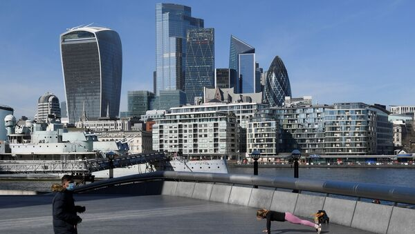 A person works out with the City of London - Sputnik International
