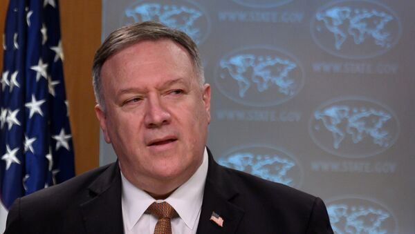 U.S. Secretary of State Mike Pompeo speaks during a news conference at the State Department in Washington, DC, U.S., March 25, 2020.  - Sputnik International