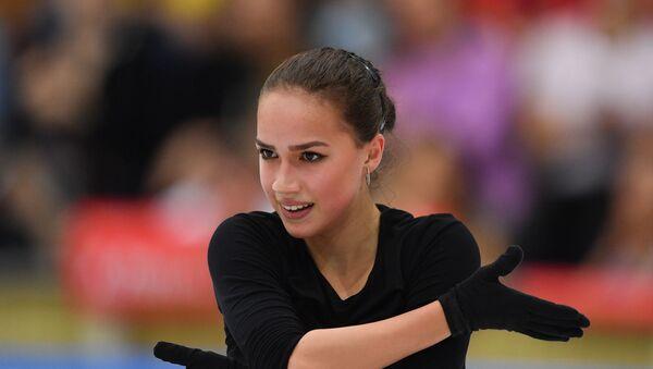 Russia's Alina Zagitova skates her free program during a training session, in Moscow, Russia - Sputnik International