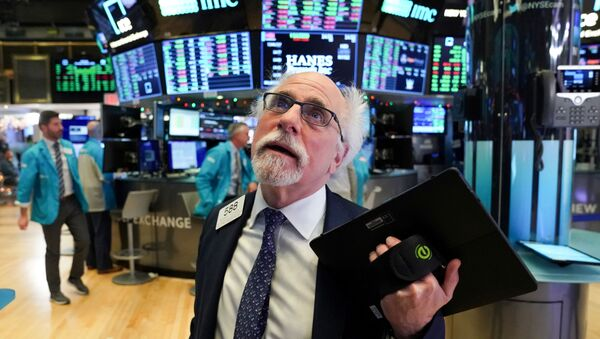 Trader Peter Tuchman works at the New York Stock Exchange (NYSE) in New York, U.S., January 2, 2020. - Sputnik International