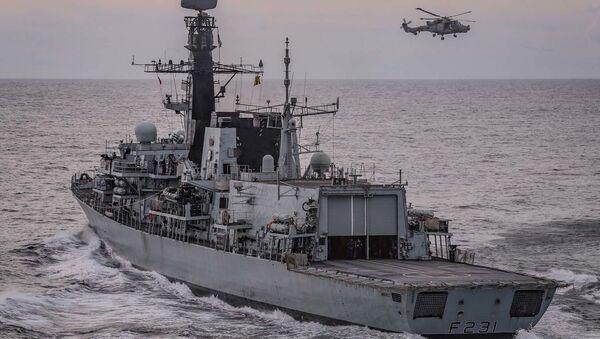 HMS Argyll. Handout released by the Royal Navy on 26 March 2020. - Sputnik International