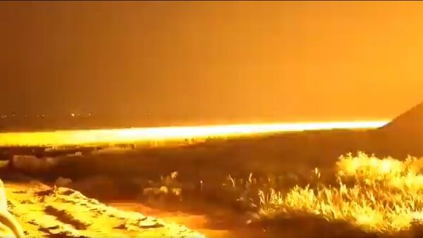 A screenshot from alleged footage of a counterattack by IDF against Hamas facilitites, 27-28 March, 2020 - Sputnik International