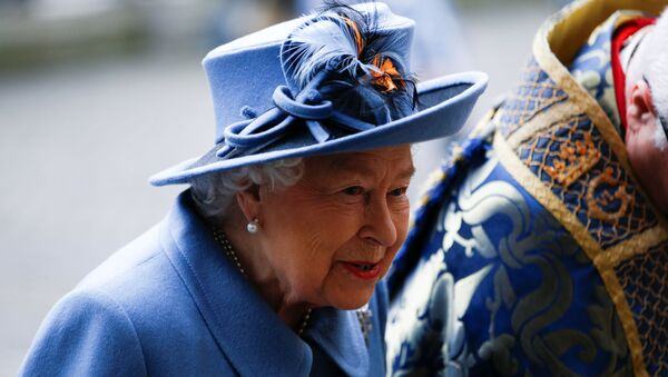 Britain's Queen Elizabeth II arrives for the annual Commonwealth Service at Westminster Abbey in London, Britain March 9, 2020.  - Sputnik International