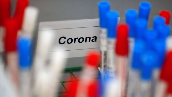 Plastic vials containing tests for the coronavirus are pictured at a medical laboratory in Cologne, Germany, March 24, 2020, as the spread of the coronavirus disease (COVID-19) continues. Picture taken March 24, 2020. - Sputnik International
