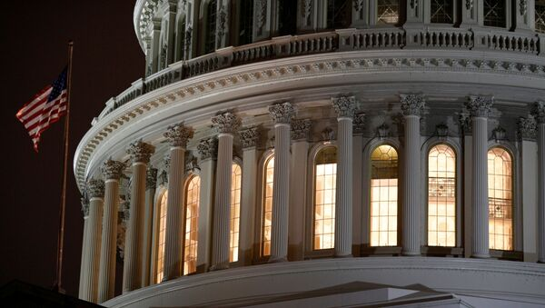 The U.S. Capitol Building as seen ahead of a vote on the coronavirus (COVID-19) relief bill on Capitol Hill in Washington, U.S., March 25, 2020.  - Sputnik International