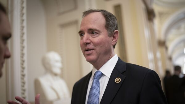 House Intelligence Committee Chairman Adam Schiff, D-Calif., talks to reporters as lawmakers work to extend government surveillance powers that are expiring soon, on Capitol Hill in Washington, Tuesday, March 3, 2020. - Sputnik International