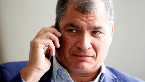 Ecuador's former president Correa is pictured ahead of an interview with Reuters in Brussels - Sputnik International