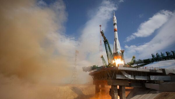 Launch of the Soyuz-2.1a rocket carrier with the Soyuz MS-16 capsule carrying the ISS-63 crew from the Baikonur cosmodrome. - Sputnik International