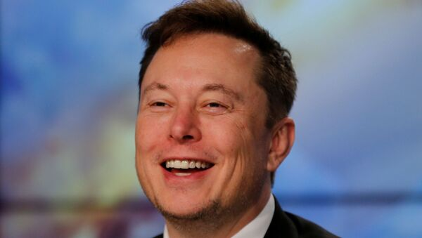 SpaceX founder and chief engineer Elon Musk speaks at a post-launch news conference to discuss the SpaceX Crew Dragon astronaut capsule in-flight abort test at the Kennedy Space Center in Cape Canaveral, Florida, U.S. January 19, 2020 - Sputnik International