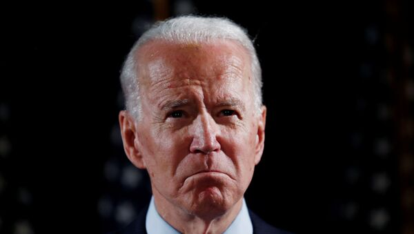 Democratic U.S. presidential candidate and former Vice President Joe Biden speaks about responses to the COVID-19 coronavirus pandemic at an event in Wilmington, Delaware, U.S., March 12, 2020. - Sputnik International