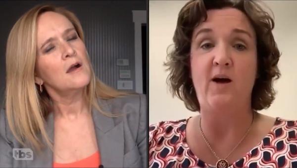 Screenshot of TBS host Samatha Bee talking to Rep. Katie Porter on 'Full Frontal', 10 April 2020 - Sputnik International