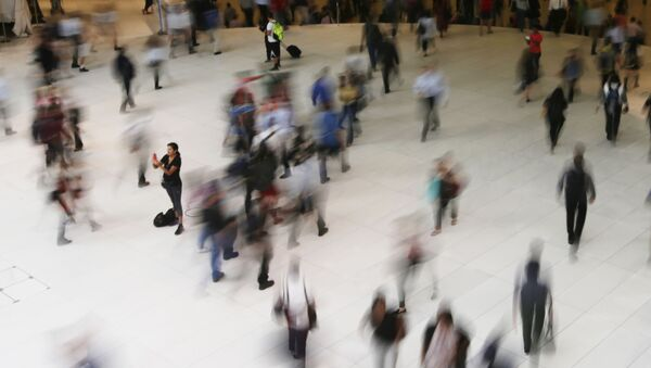 In this June 15, 2017, photo, people walk inside the Oculus, the new transit station at the World Trade Center in New York. Data collection practices of tech firms are increasingly under the microscope - Sputnik International