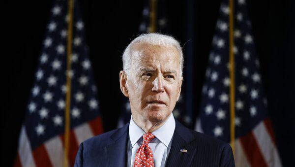 Democratic presidential candidate former Vice President Joe Biden speaks about the coronavirus Thursday, March 12, 2020, in Wilmington, Del. - Sputnik International