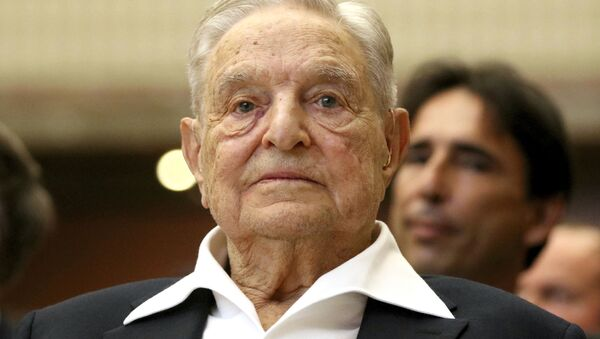 George Soros, Founder and Chairman of the Open Society Foundations, looks before the Joseph A. Schumpeter award ceremony in Vienna, Austria, 21 June 2019 - Sputnik International
