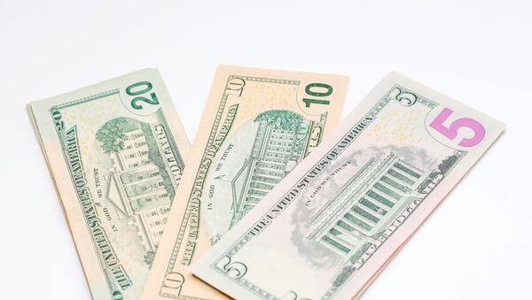 US dollar banknotes on white background - Sputnik International