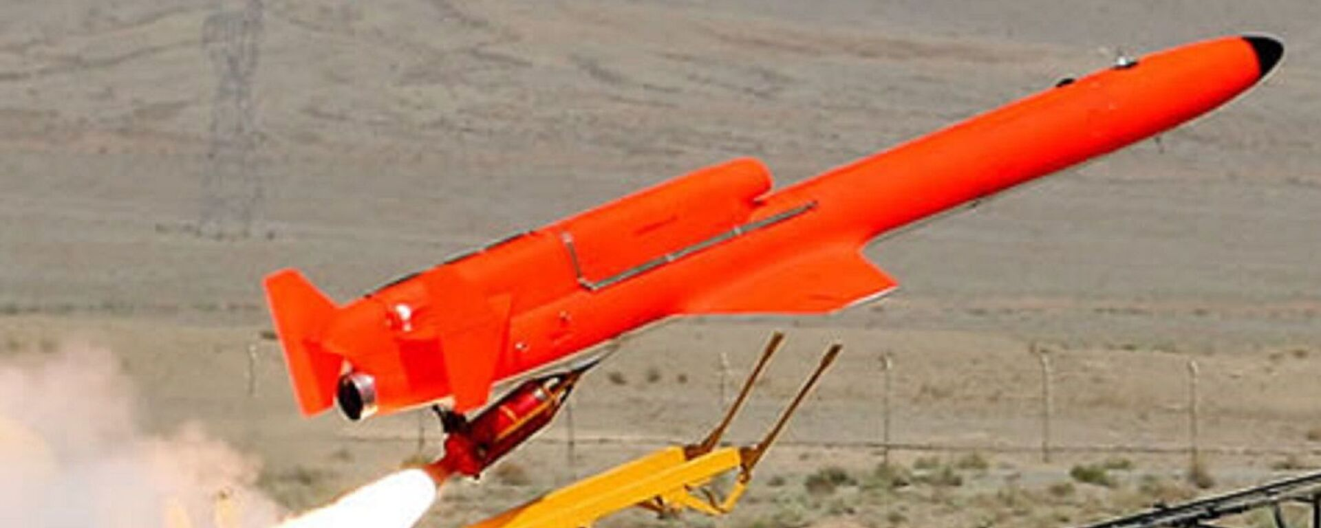 The Iranian jet powered drone Karrar launched by Rocket Assist Take-Off (RATO) booster, acceleratingh the vehicle from a stationary ground launcher. Karrar can also be launched from an aerial platform. - Sputnik International, 1920, 10.09.2021