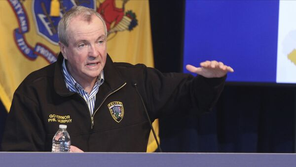 New Jersey Gov. Phil Murphy holds a news conference regarding the COVID-19 cases at the War Memorial in Trenton, N.J. on Saturday, April 11, 2020 - Sputnik International