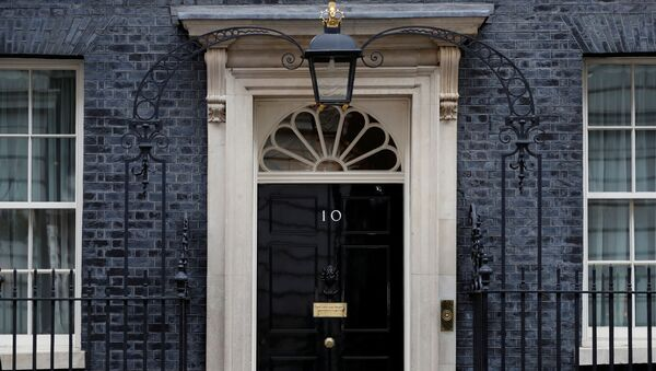 The door of 10 Downing Street in London as the spread of the coronavirus disease (COVID-19) continues, London, Britain, April 6, 2020.  - Sputnik International