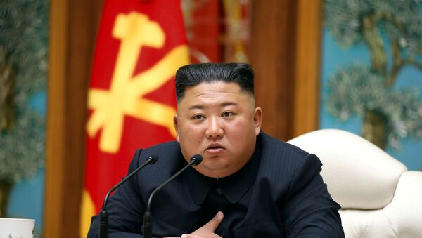 North Korean leader Kim Jong Un takes part in a meeting of the Political Bureau of the Central Committee of the Workers' Party of Korea (WPK) in this image released by North Korea's Korean Central News Agency (KCNA) on April 11, 2020 - Sputnik International