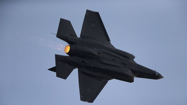 In this Dec. 29, 2016 file photo, an Israeli Air Force F-35 plane performs during a graduation ceremony for new pilots in the Hatzerim Air Force Base near Beersheba - Sputnik International