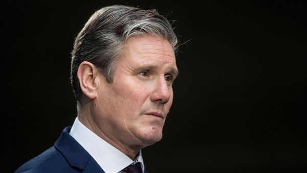 Britain's opposition Labour Party Shadow Brexit Secretary Keir Starmer speaks to members of the media as he leaves the BBC headquarters after appearing on The Andrew Marr Show in London, Britain January 5, 2020.  - Sputnik International