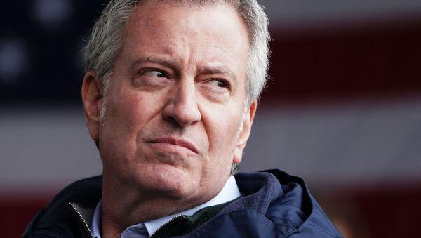 New York Mayor Bill de Blasio speaks after the USNS Comfort pulled into a berth in Manhattan during the outbreak of coronavirus disease (COVID-19), in the Manhattan borough of New York City, New York, U.S., March 30, 2020 - Sputnik International