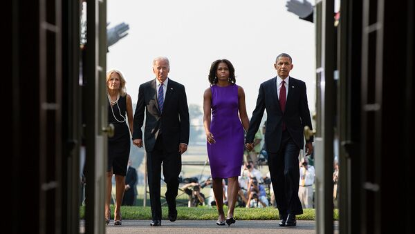 President Barack Obama, First Lady Michelle Obama, Vice President Joe Biden and Dr. Jill Biden - Sputnik International