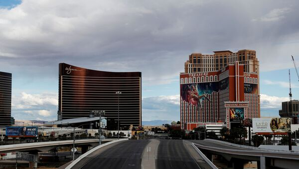 Empty roads leading into and out of the Las Vegas strip are seen as the spread of coronavirus disease (COVID-19) continues, in Las Vegas, Nevada U.S., April 9, 2020 - Sputnik International
