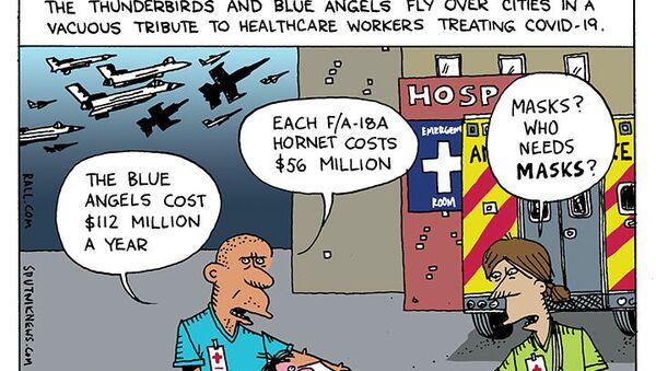 Medics Dying, Jets Flying  - Sputnik International
