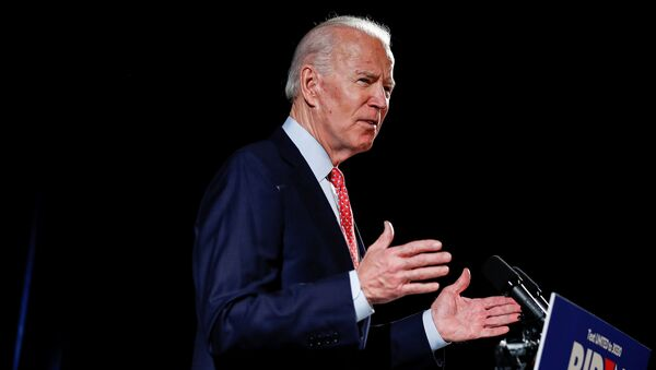 Democratic U.S. presidential candidate and former Vice President Joe Biden speaks about the COVID-19 coronavirus pandemic at an event in Wilmington, Delaware, U.S., March 12, 2020 - Sputnik International