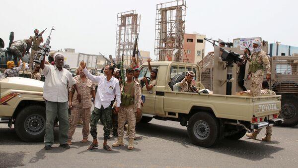 Southern Transitional Council forces in Aden - Sputnik International