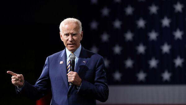 2020 Democratic U.S. presidential candidate and former Vice President Joe Biden speaks during the Presidential Gun Sense Forum in Des Moines, Iowa, U.S., August 10, 2019 - Sputnik International