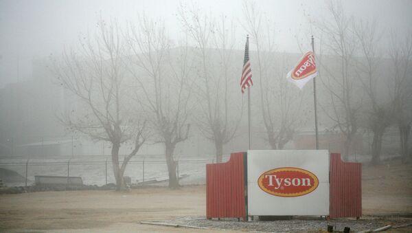 Fog shrouds the Tyson slaughterhouse in Burbank, Washington December 26, 2013 - Sputnik International