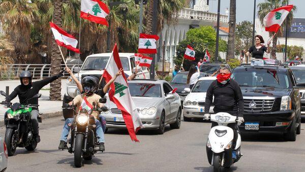 Anti-government demonstrators in Beirut - Sputnik International