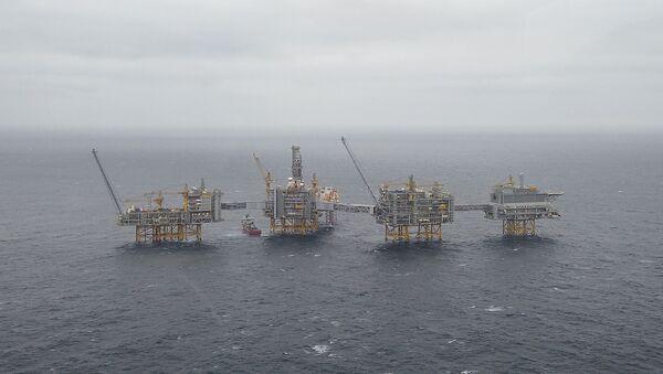 A general view of the Equinor's Johan Sverdrup oilfield platforms in the North Sea, Norway December 3, 2019 - Sputnik International