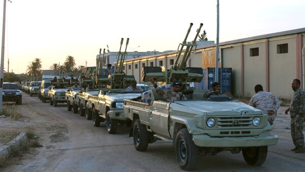 Military vehicles of members of the Libyan internationally recognised government forces in Libya - Sputnik International