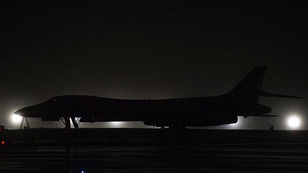 A B-1B Lancer bomber sits on the flight line at Andersen Air Force Base, Guam, Friday, May 1, 2020. - Sputnik International