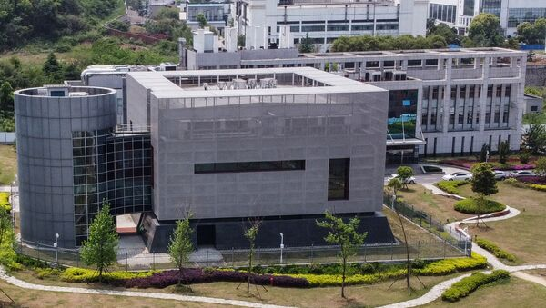 (FILES) This file photo taken on April 17, 2020 shows an aerial view of the P4 laboratory at the Wuhan Institute of Virology in Wuhan in China's central Hubei province - Sputnik International