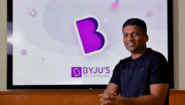 In this photo taken on January 10, 2019, Byju Raveendran, founder of Byju's, the Bangalore-based educational technology start-up, poses at the company's premises in Bangalore - Sputnik International