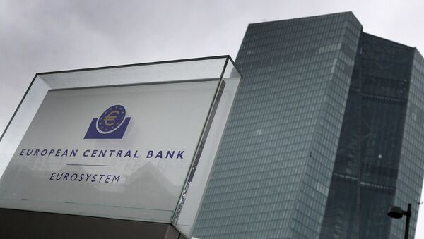 This file photo taken on March 12, 2020 shows the headquarters of the European Central Bank (ECB) in Frankfurt am Main, western Germany. - Sputnik International