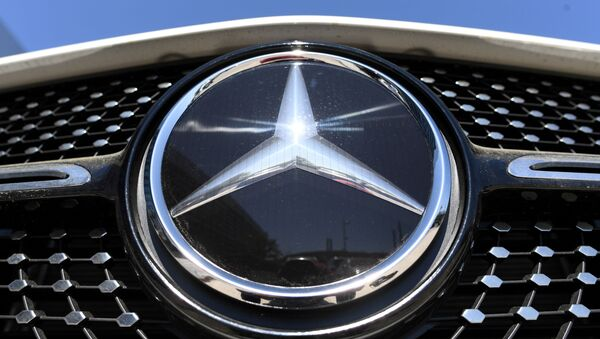 The Mercedes-Benz logo is seen near the Daimler headquarters, as the spread of the coronavirus disease (COVID-19) continues in Stuttgart, Germany, April 22, 2020. REUTERS - Sputnik International
