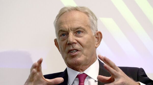 Former British prime minister Tony Blair gives a speech on Brexit at the Institute for Government in central London, Monday Sept. 2, 2019 - Sputnik International