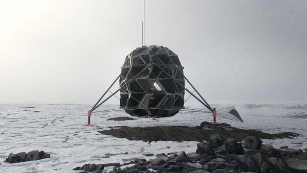 Design of the LUNARK Mark 1 Habitat, an origami-inspired expandable moon shelter. - Sputnik International