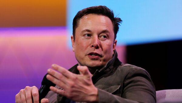 SpaceX owner and Tesla CEO Elon Musk gestures during a conversation with legendary game designer Todd Howard (not pictured) at the E3 gaming convention in Los Angeles, California, U.S., June 13, 2019. - Sputnik International