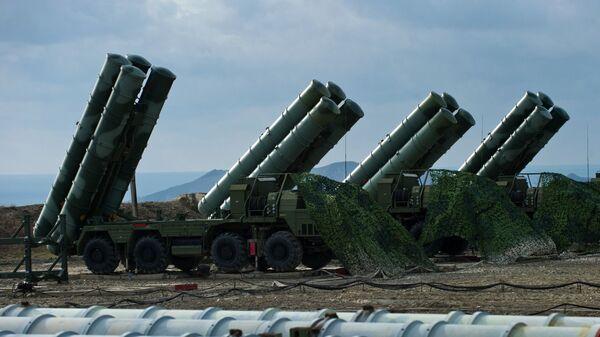 Anti-aircraft defense system S-400 Triumph  - Sputnik International