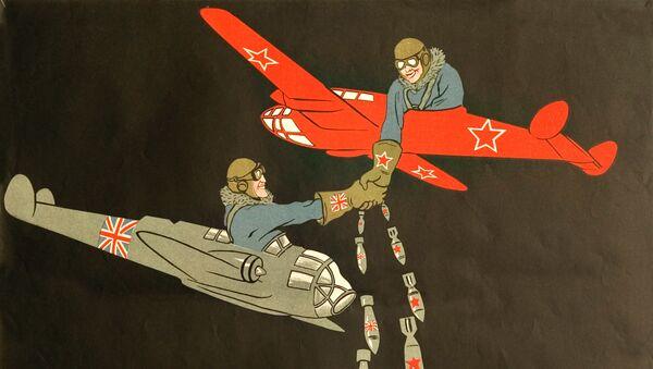 Soviet and British soldiers - Sputnik International