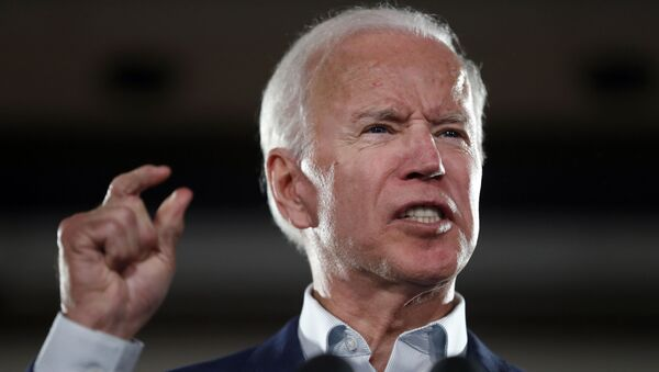 In this Oct. 31, 2018 file photo, former Vice President Joe Biden speaks during a rally in Bridgeton, Mo. - Sputnik International